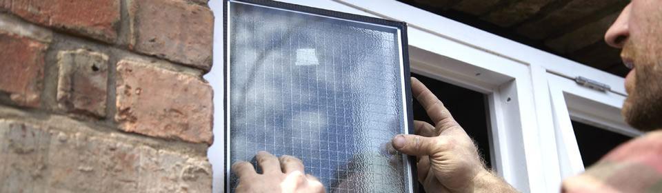 glaszetter vervangt glas